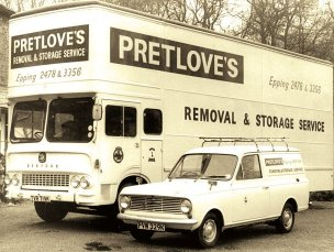 Pretlove's removal van and truck